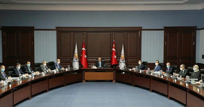 AK Parti MYK, Başkan Erdoğan liderliğinde toplandı