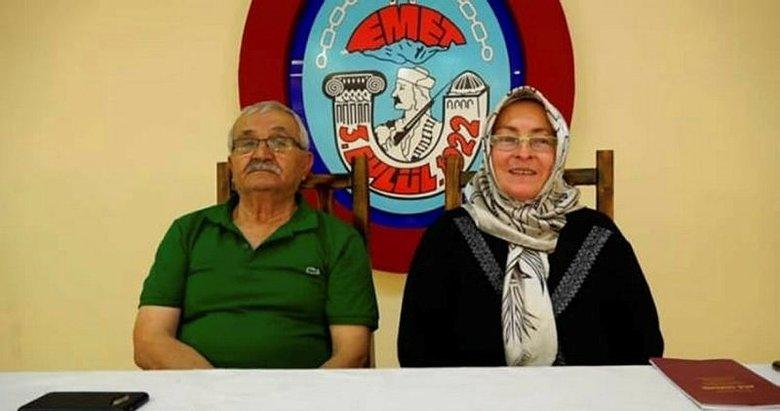 Emet'te yaşlı çift yıldırım nikahı ile evlendi