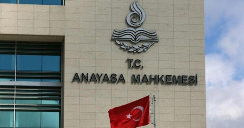 AYM'den CHP'nin baro başvurusuna ret!