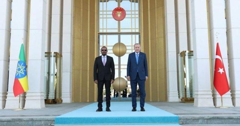 Başkan Erdoğan, Etiyopya Başbakanı Ahmed'i kabul etti