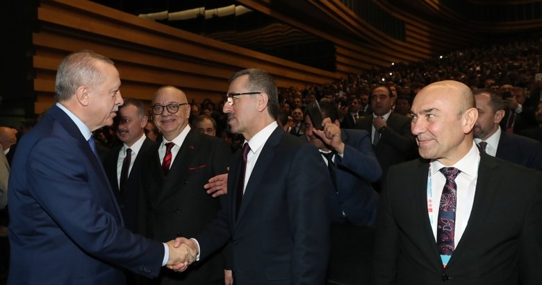 Tunç Soyer'in bakışları gözlerden kaçmadı! Başkan Erdoğan'a hayran hayran baktı