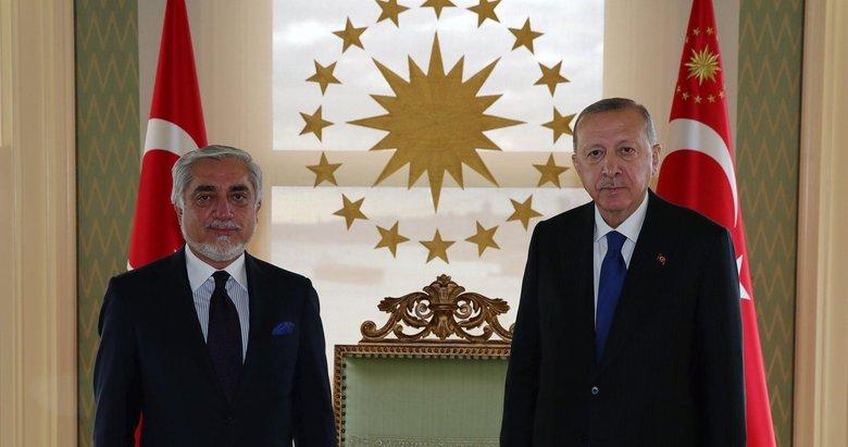 Başkan Erdoğan Afganistan Milli Uzlaşı Yüksek Konseyi Başkanı'nı kabul etti