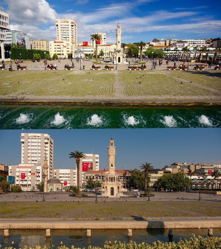 Polis memuru İzmir sokaklarını görüntüledi! İşte o muhteşem manzaralar!