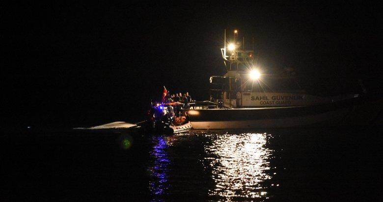 Bodrum'da 14 göçmenin bulunduğu lastik bot battı