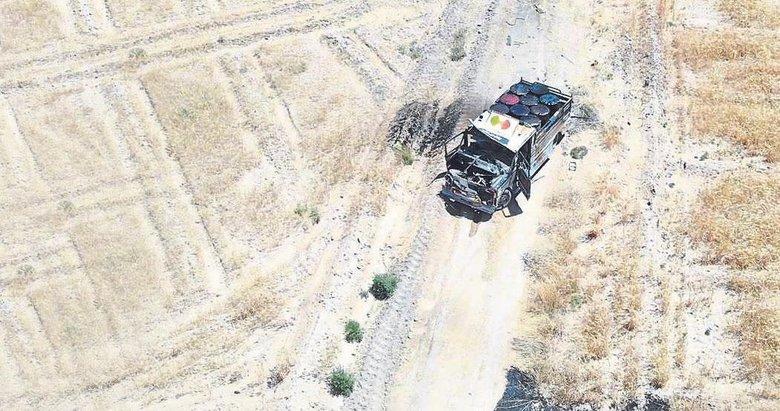 Komandolar bomba yüklü kamyoneti vurdu