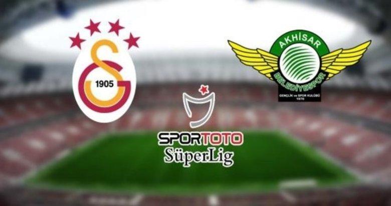 Galatasaray - Akhisarspor maçında ilk 11'ler belli oldu