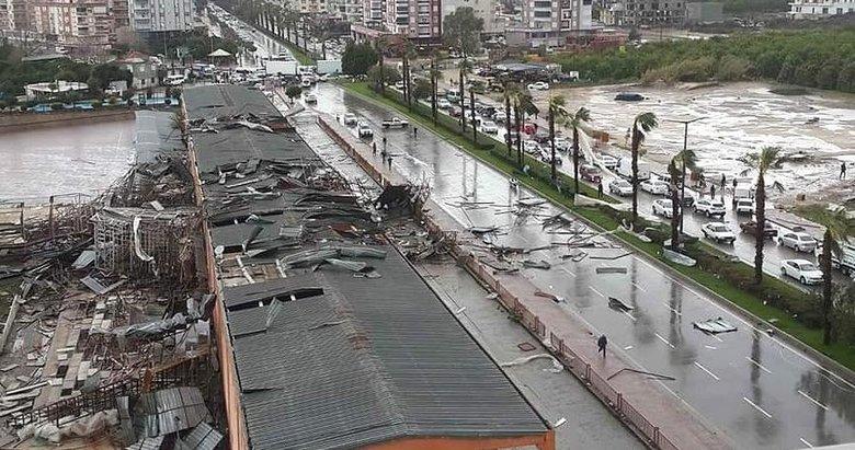 Antalya'da hortum: 1 ölü, 11 yaralı