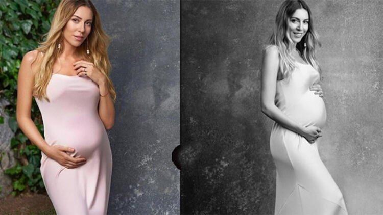 Geri sayım başladı! İşte Sinem Kobal'ın hamilelik pozları...