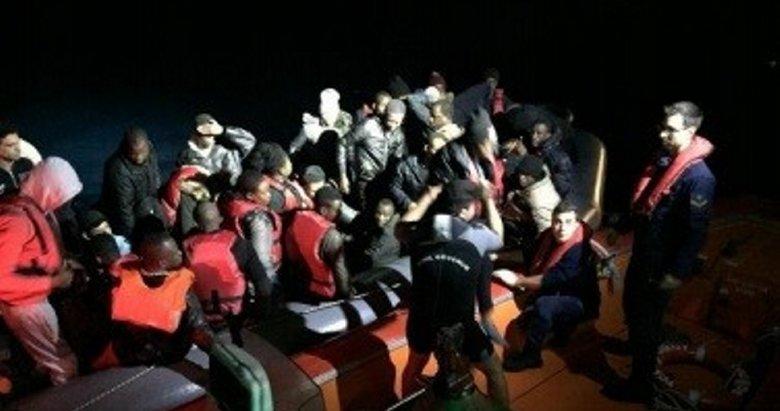 Kuşadası'nda 62 kaçak göçmen yakalandı