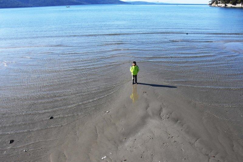 Muğla'da korkutan manzara! Akyaka'da deniz suyu 30 metre çekildi