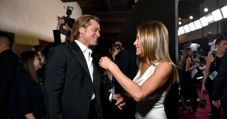 Fotoğraflar sosyal medyaya damga vurdu! Jennifer Aniston ve Brad Pitt yıllar sonra...
