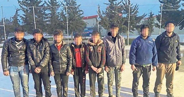 Türkiye'ye kaçak girmek isterken yakayı ele verdiler