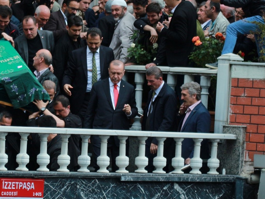 Başkan Erdoğan cenaze törenine katıldı
