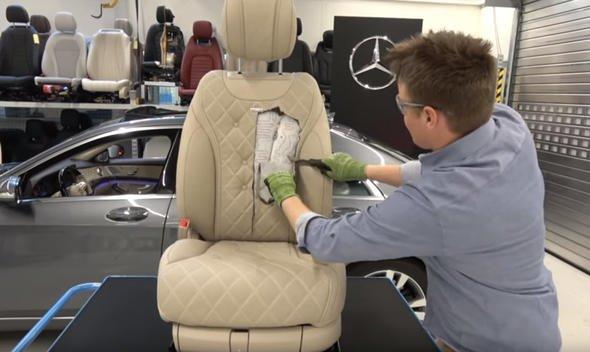 Mercedes koltuğunun içinden bakın neler çıktı!