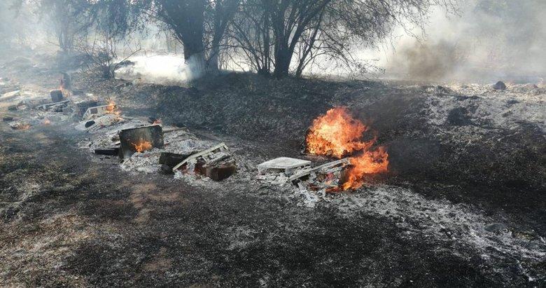Muğla'da alevlerin ortasında kalan yaşlı adam öldü