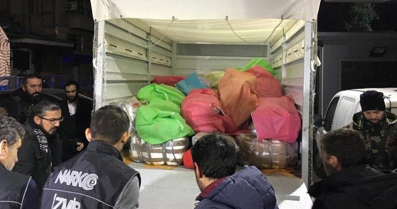 İzmir'de 1 ton sentetik uyuşturucu ele geçirildi