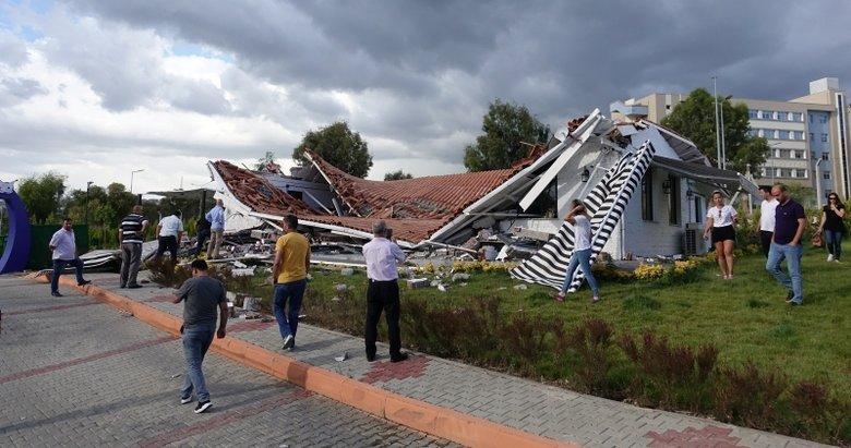 Hayvan parkının kafeteryası çöktü