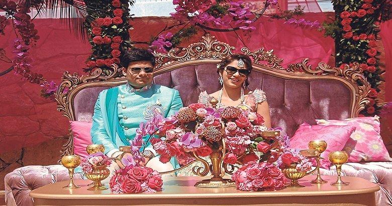 Hintli jet sosyete kına yaktı nikah bugün