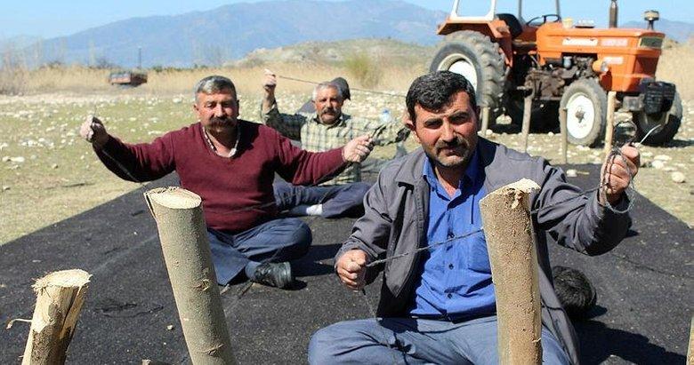 Aydın'da Yörüklerin göç öncesi çadır hazırlığı başladı