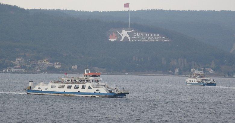 Bozcaada'ya bazı feribot seferleri iptal edildi
