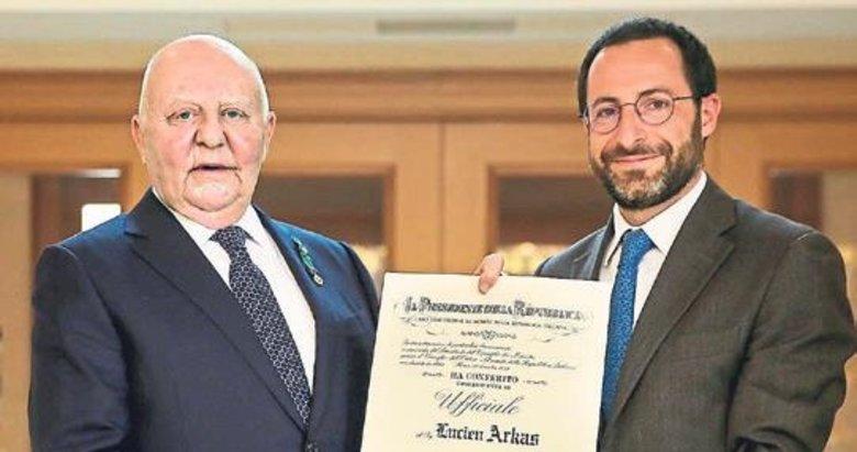 Lucien Arkas'a 2. kez İtalya Liyakat Nişanı