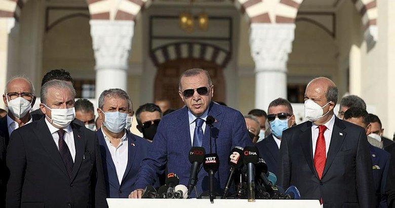 Başkan Erdoğan'dan Kıbrıs'ta Kurban Bayramı namazı sonrası önemli açıklamalar