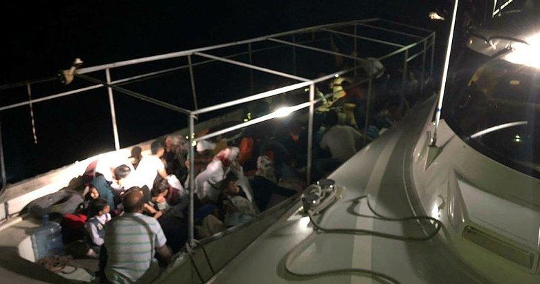 Aydın Didim'de 54 düzensiz göçmen yakalandı