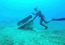 Deniz dibi temizliğinden küvet çıktı