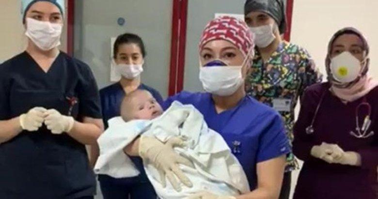 Kütahya'da 5 aylık bebek koronavirüsü yenmeyi başardı