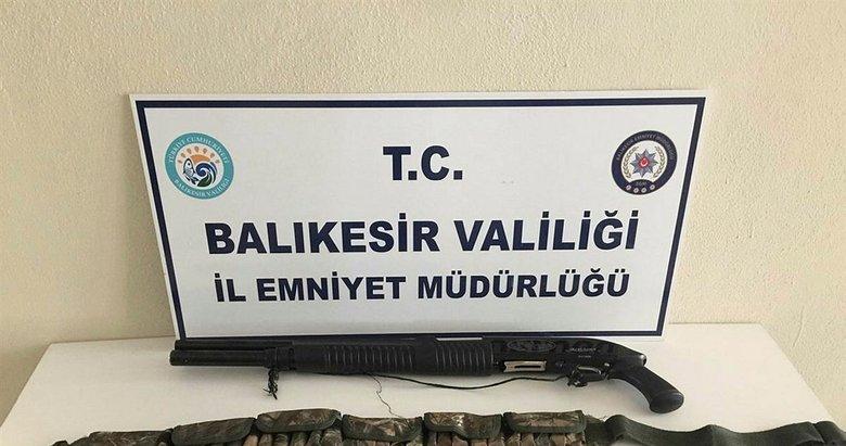 Balıkesir'de silah operasyonu!