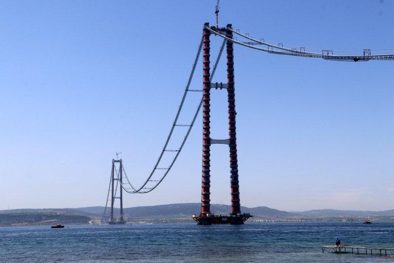1915 Çanakkale Köprüsü'nde ana halatlar tamamlanıyor!