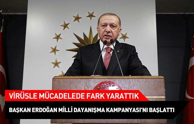 Erdoğan, Milli Dayanışma Kampanyası'nı başlattı