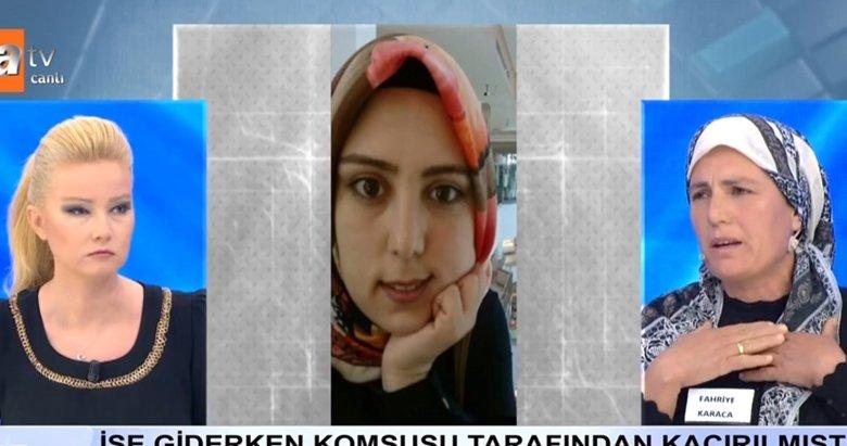 İzmir'de kaçırılan Tuğba, yaşadığı korkuyu Müge Anlı canlı yayınında anlattı