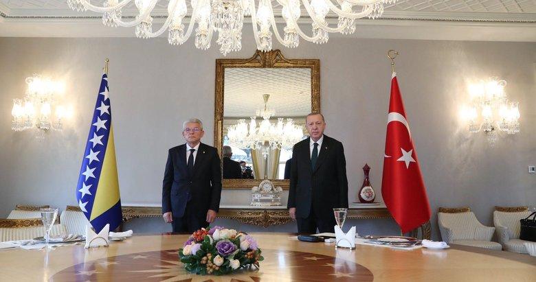 Başkan Erdoğan, Bosna Hersek Devlet Başkanlığı Konseyi Başkanı Caferoviç ile bir araya geldi