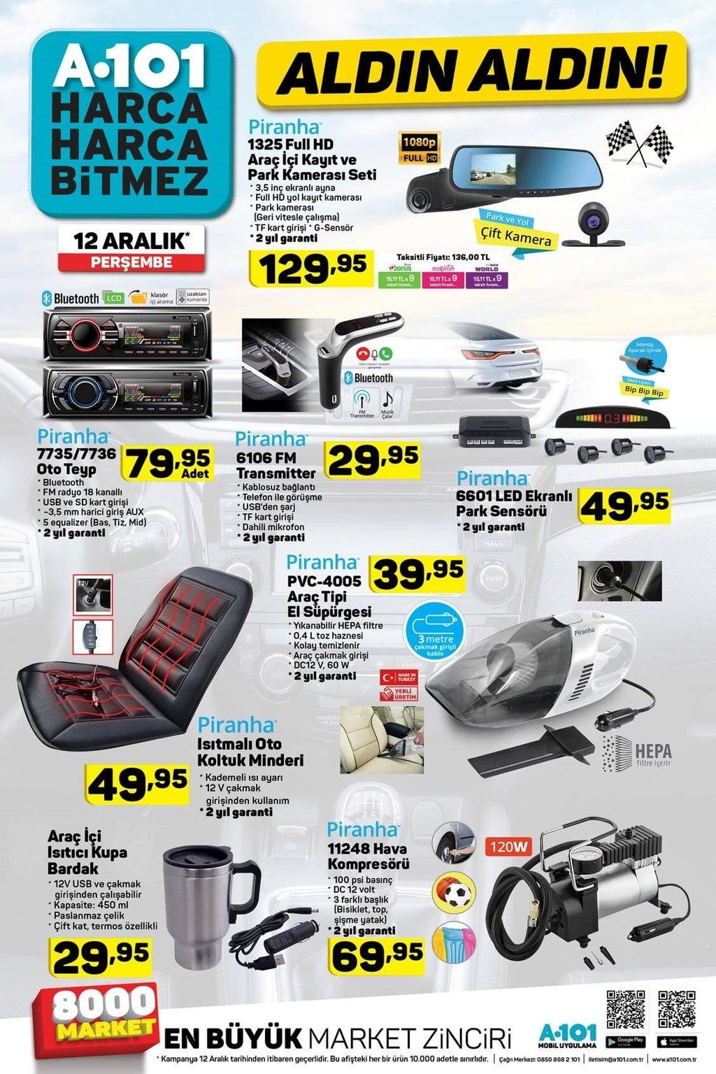 A101 aktüel ürünler kataloğu 12 Kasım Perşembe!