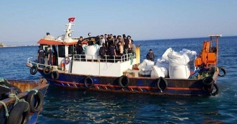 Aç ve susuz göçmenleri polis ve jandarma kurtardı