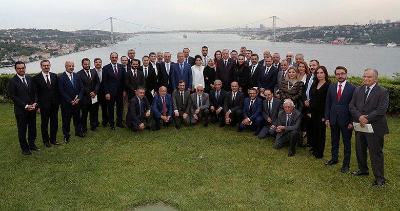 Başkan Erdoğan'ın genel yayın yönetmenleriyle bir araya geldiği toplantı sona erdi