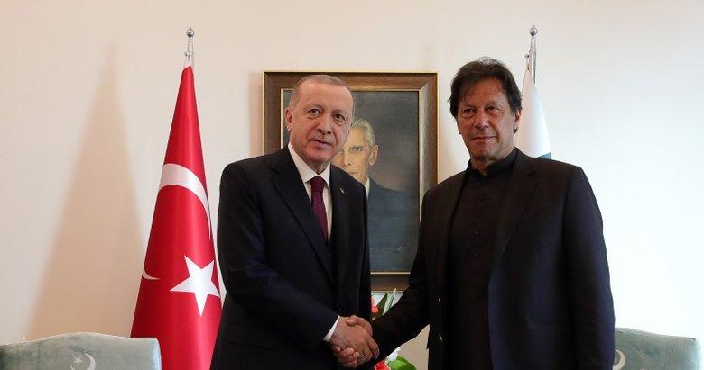 Başkan Erdoğan, Pakistan Başbakanı İmran Han ile bir araya geldi
