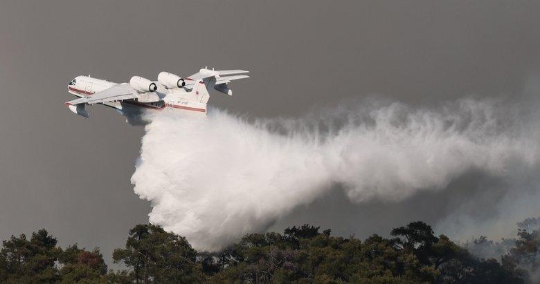 Foça'daki yangın için ekipler seferber oldu