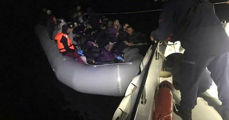 Aydın Didim açıklarında 40 kaçak göçmen yakalandı