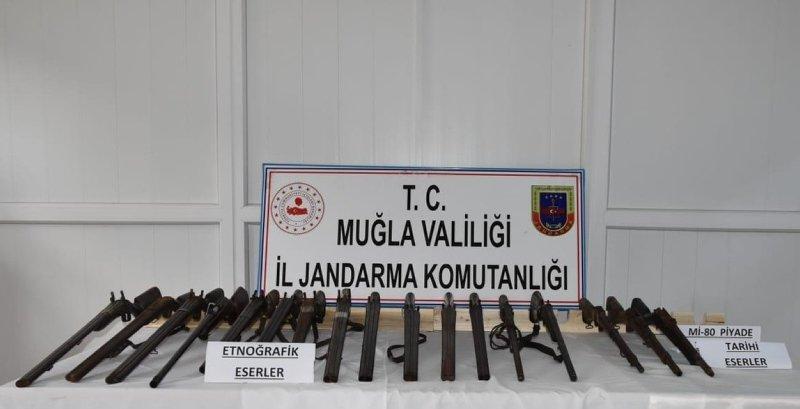Muğla'da tüfek operasyonu