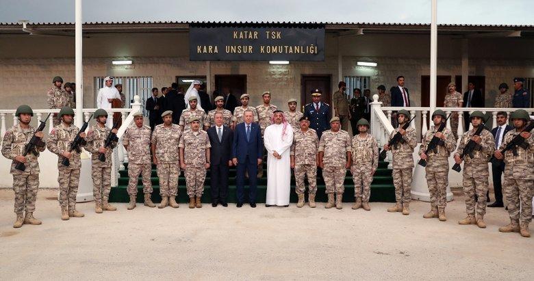 Katar'daki Türk birliğinden ilk görüntüler!