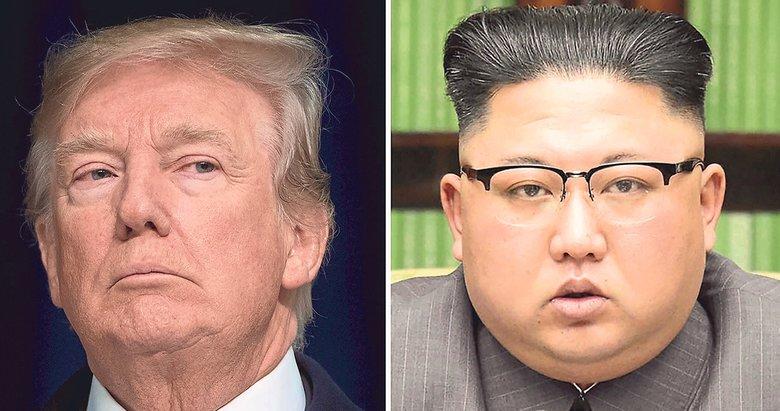 Trump'tan Kim Jong'a nükleer deneme şartı