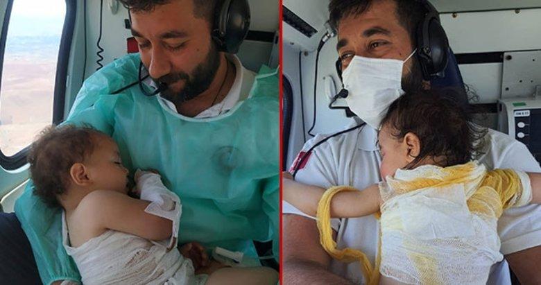 Türkiye'nin gündemine oturmuştu! Beril bebekten sonra bu kez Zeynep bebek, o sağlıkçının kucağında