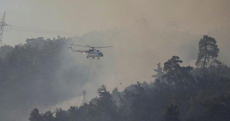 Muğla'da devam eden 4 yangına havadan ve karadan müdahale