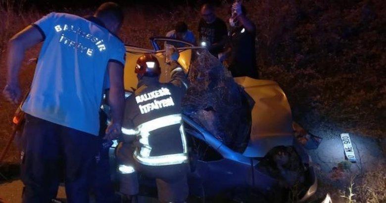 Balıkesir'de iki otomobil çarpıştı: 5 yaralı