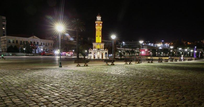 İzmir sokağa çıkma kısıtlamasıyla birlikte sessizliğe büründü