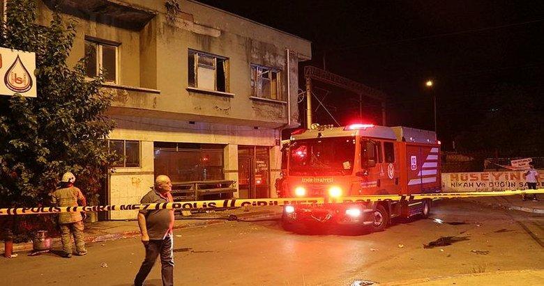 İzmir'de bir fırında patlamanın ardından çıkan yangın hasara neden oldu