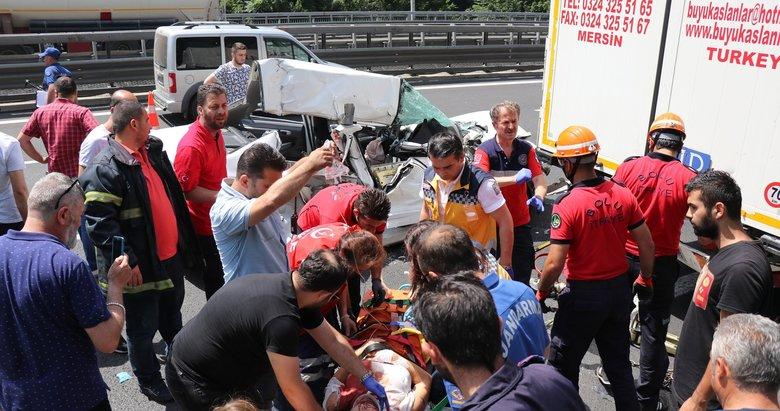 Bolu Dağı'nda feci kaza