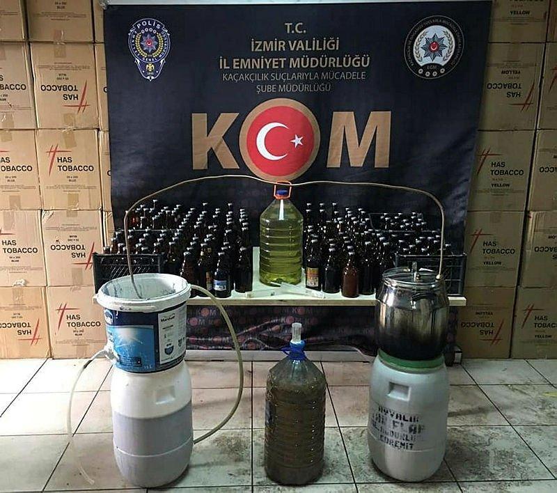 İzmir'de piyasa değeri 4 milyon liralık kaçak ürün ele geçirildi